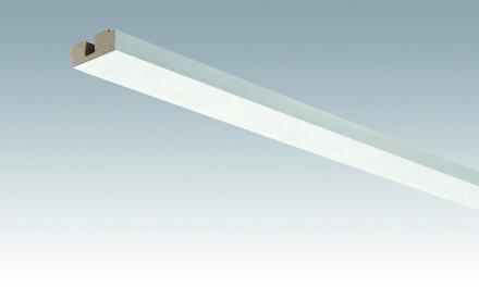 MEISTER Sockelleisten Deckenabschlussleisten Duo Gloss White 4089 - 2380 x 40 x 15 mm