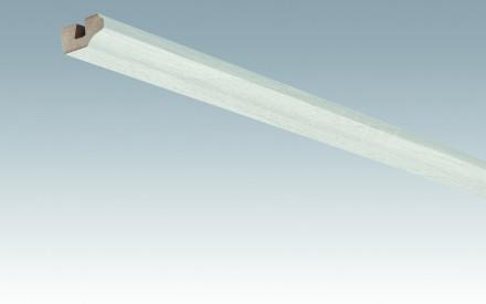 MEISTER Sockelleisten Deckenabschlussleisten Eiche weiß deckend 4069 - 2380 x 38 x 19 mm