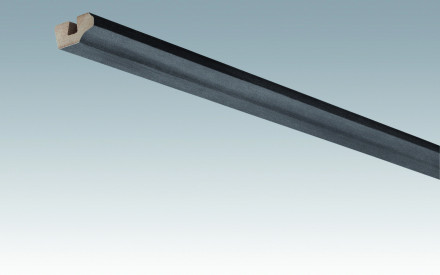 MEISTER Sockelleisten Deckenabschlussleisten Stahl-Metallic 4078 - 2380 x 38 x 19 mm