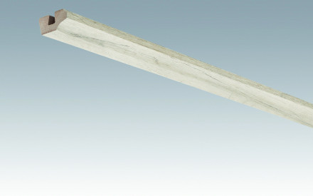MEISTER Sockelleisten Deckenabschlussleisten Eiche rustikal cremegrau 4082 - 2380 x 38 x 19 mm