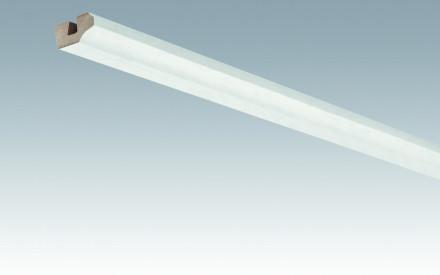 MEISTER Sockelleisten Deckenabschlussleisten Duo Gloss White 4089 - 2380 x 38 x 19 mm