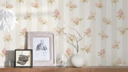 Vinyltapete Blumentapete creme Modern Klassisch Natur Romantico 471