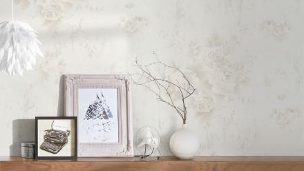 Vinyltapete grau Modern Klassisch Blumen & Natur Romantico 472