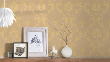 Textiltapete Metallic Silk Architects Paper Ornamente Beige Metallic 584