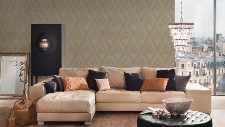 Textiltapete Metallic Silk Architects Paper Ornamente Beige Metallic 593