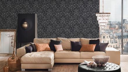 Textiltapete Metallic Silk Architects Paper Ornamente Gelb Metallic 606