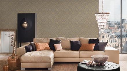 Textiltapete Metallic Silk Architects Paper Ornamente Beige Metallic 625