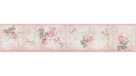 Vinyltapete Bordüre rosa Retro Blumen & Natur Only Borders 10 051