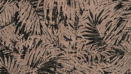 Vinyltapete schwarz Modern Retro Blumen & Natur Borneo 631