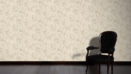 Vinyltapete beige Modern Retro Blumen & Natur Borneo 632