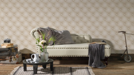 Vinyltapete beige Modern Ornamente Hermitage 10 441