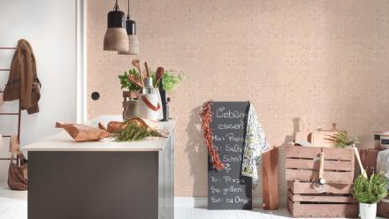 Vinyltapete beige Modern Landhaus Ornamente Happy Spring 453