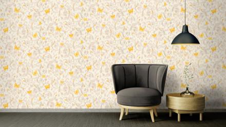 Vinyltapete Steintapete gelb Modern Klassisch Steine Versace 3 253