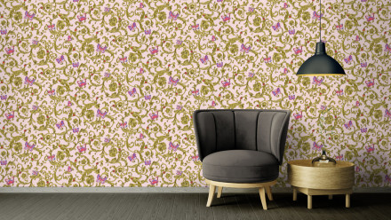 Vinyltapete Steintapete rosa Modern Klassisch Steine Versace 3 254