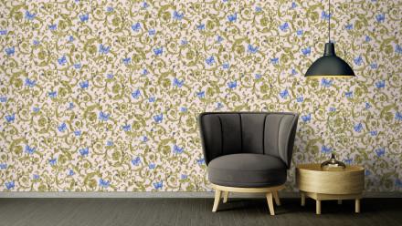 Vinyltapete Steintapete blau Modern Klassisch Steine Versace 3 256