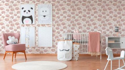 Papiertapete rosa KinderModern Kinder Blumen & Natur Boys & Girls 6 451