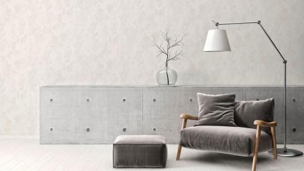 Vinyltapete Strukturtapete grau Modern Uni Beton Concrete & More 972