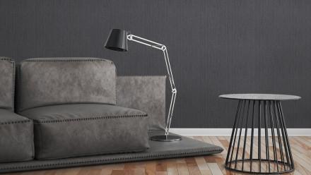 Vinyltapete Strukturtapete schwarz Modern Uni Black & White 335