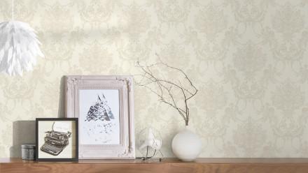Vinyltapete grau Retro Landhaus Barock Blumen & Natur Ornamente Château 5 923