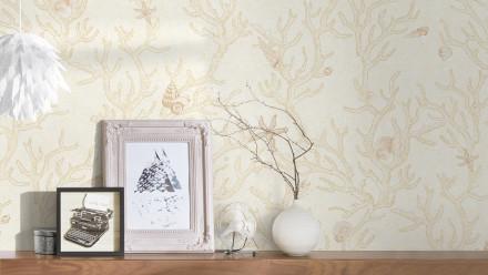 Vinyltapete beige Vintage Blumen & Natur Versace 3 961