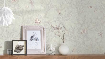 Vinyltapete lila Vintage Blumen & Natur Versace 3 964