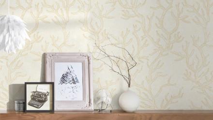 Vinyltapete beige Vintage Blumen & Natur Versace 3 971