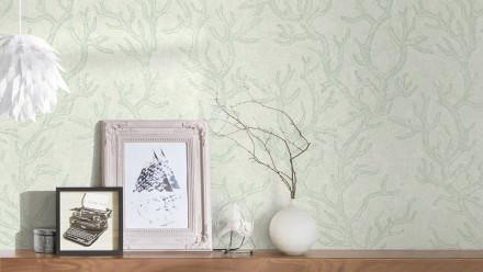 Vinyltapete grün Vintage Blumen & Natur Versace 3 973