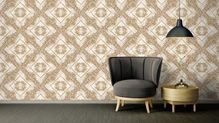 Vinyltapete beige Klassisch Vintage Landhaus Ornamente Bilder Versace 3 041