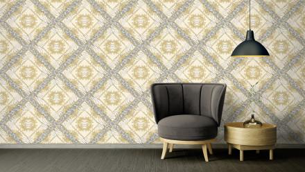 Vinyltapete grau Klassisch Vintage Landhaus Ornamente Bilder Versace 3 042