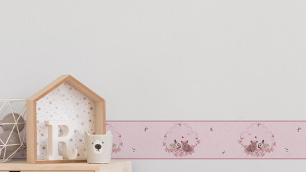 Vliestapete Bordüre rosa Modern Kinder Blumen & Natur Kinder Little Stars 671