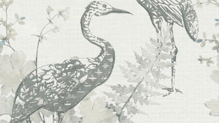 Vinyltapete Four Seasons A.S. Création Landhausstil Vögel Natur Grau Blau Beige 922