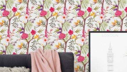 Vinyltapete bunt Landhaus Klassisch Blumen & Natur Neue Bude 2.0 021