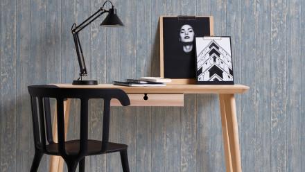 Vinyltapete blau Modern Klassisch Holz Authentic Walls 2 732