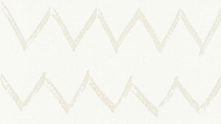 Vinyltapete weiß Modern Klassisch Streifen Designdschungel 2 by Laura N. 741