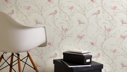 Vinyltapete rosa Modern Blumen & Natur Colibri 233