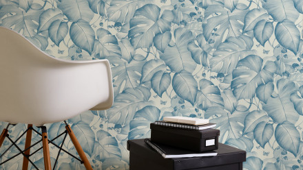 Vinyltapete blau Modern Blumen & Natur Colibri 251