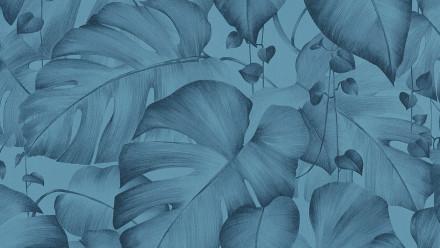 Vinyltapete blau Modern Blumen & Natur Colibri 271