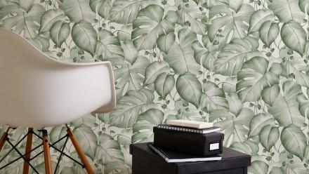 Vinyltapete grün Modern Blumen & Natur Colibri 272
