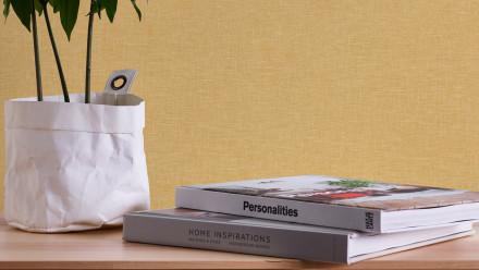 Vinyltapete gelb Modern Uni Linen Style 345