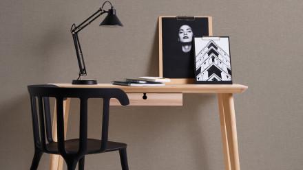 Vinyltapete braun Modern Uni Linen Style 349