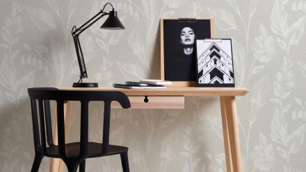 Vinyltapete beige Modern Landhaus Blumen & Natur Linen Style 363