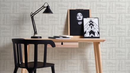 Vinyltapete grau Modern Landhaus Streifen Linen Style 372