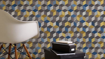 Vinyltapete gelb Modern Ornamente Authentic Walls 2 622