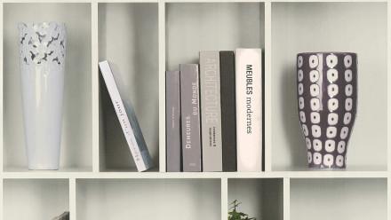 Vinyltapete weiß Modern Blumen & Natur Holz Bilder Authentic Walls 2 631