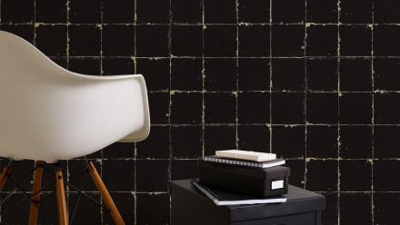 Vinyltapete schwarz Modern Landhaus Streifen Authentic Walls 2 641