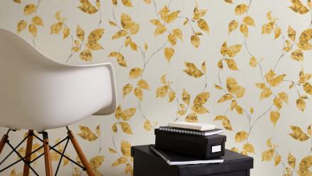Vinyltapete gelb Modern Landhaus Blumen & Natur Flavour 872