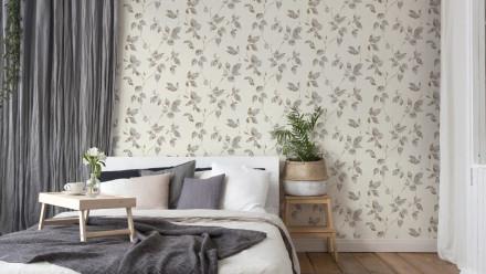 Vinyltapete grau Modern Landhaus Blumen & Natur Flavour 873