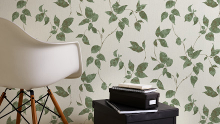 Vinyltapete grün Modern Landhaus Blumen & Natur Flavour 874