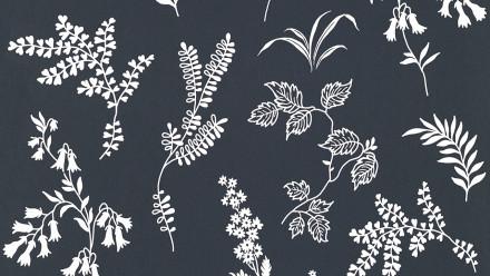 Papiertapete schwarz Modern Blumen & Natur Flavour 933