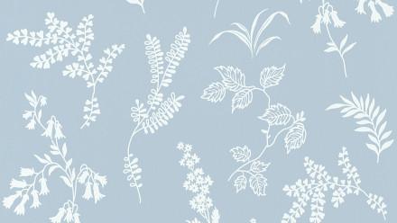 Papiertapete blau Modern Blumen & Natur Flavour 934